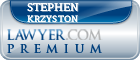 Stephen Krzyston  Lawyer Badge