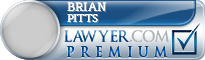 Brian Charles Pitts  Lawyer Badge