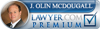 """J. Olin  """"Lin"""" McDougall  II  Lawyer Badge"""