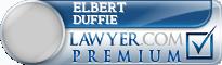 Elbert O. Duffie  Lawyer Badge