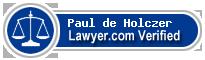 Paul Dezso de Holczer  Lawyer Badge