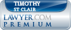Timothy David St Clair  Lawyer Badge
