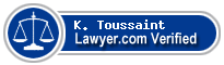 K. Scott Toussaint  Lawyer Badge