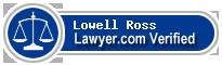 Lowell W. Ross  Lawyer Badge