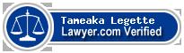 Tameaka A. Legette  Lawyer Badge