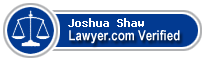 Joshua Daniel Shaw  Lawyer Badge