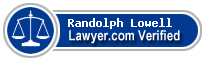 Randolph Russell Lowell  Lawyer Badge