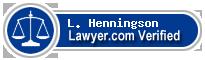 L. David Henningson  Lawyer Badge