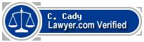 C. M. Cady  Lawyer Badge