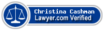 Christina D. Cashman  Lawyer Badge