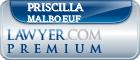 Priscilla Ann Malboeuf  Lawyer Badge