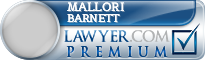 Mallori Megan Barnett  Lawyer Badge