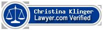 Christina L. Klinger  Lawyer Badge