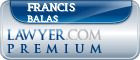 Francis P. Balas  Lawyer Badge