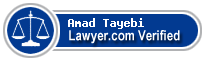Amad Tayebi  Lawyer Badge