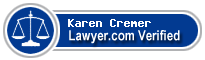 Karen E. Cremer  Lawyer Badge