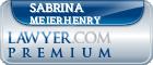 Sabrina S. Meierhenry  Lawyer Badge
