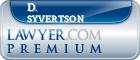 D. G. Syvertson  Lawyer Badge