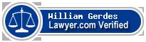 William D. Gerdes  Lawyer Badge