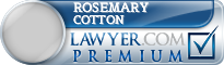 Rosemary E. Cotton  Lawyer Badge