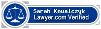 Sarah P. Kowalczyk  Lawyer Badge