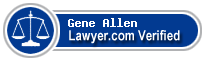 Gene Allen  Lawyer Badge