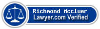 Richmond H Mccluer  Lawyer Badge