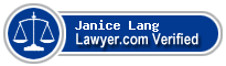 Janice Elaine Cronin Lang  Lawyer Badge