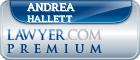 Andrea E. Hallett  Lawyer Badge