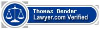 Thomas Bender  Lawyer Badge