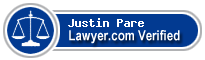 Justin Ross Pare  Lawyer Badge