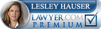 Lesley Carroll Hauser  Lawyer Badge