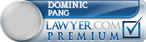 Dominic L. Pang  Lawyer Badge