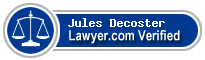 Jules Victor Decoster  Lawyer Badge