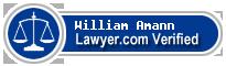 William James Amann  Lawyer Badge