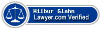 Wilbur Anderson Glahn  Lawyer Badge