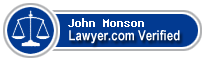 John Rudolph Monson  Lawyer Badge