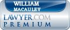 William F. Macauley  Lawyer Badge