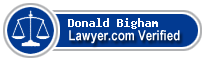 Donald Dean Bigham  Lawyer Badge