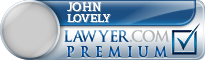 John M. Lovely  Lawyer Badge