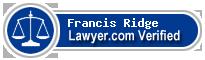Francis X. Ridge  Lawyer Badge