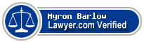 Myron Paul Barlow  Lawyer Badge