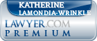 Katherine Lee Lamondia-Wrinkle  Lawyer Badge