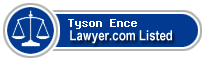 Tyson Ence Lawyer Badge