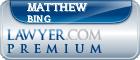 Matthew Eric Bing  Lawyer Badge