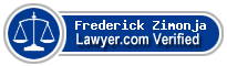 Frederick C. Zimonja  Lawyer Badge
