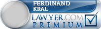 Ferdinand Lawrence Kral  Lawyer Badge