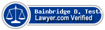 Bainbridge D. Testa, Esq.  Lawyer Badge