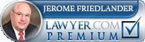 Jerome P. Friedlander II  Lawyer Badge