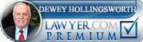 Dewey Gordon Hollingsworth  Lawyer Badge